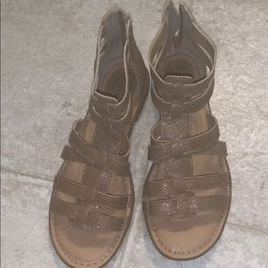 Women's gladiator sandals; in like new condition
